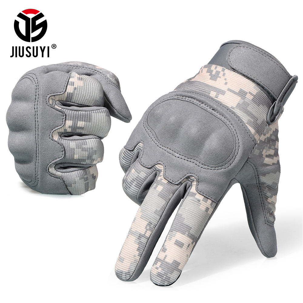 ACU Camouflage Touch Screen Tactical Gloves Military Airsoft Paintball Shot Combat Anti-Skid Hard Knuckle Full Finger Gloves Men