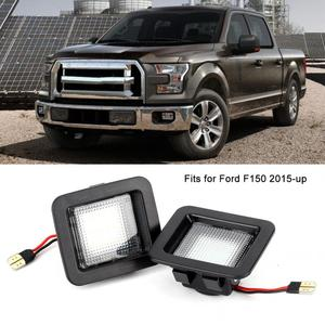 1 Pair Car 18LEDs Number License Plate Light Lamp Fits for Ford F150 2015 2016 2017 2018 2019 Car Styling
