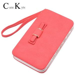 Новинка 2020, Женский кошелек в Корейском стиле, длинный мобильный телефон, сумка для ланча с бантом, женская сумка
