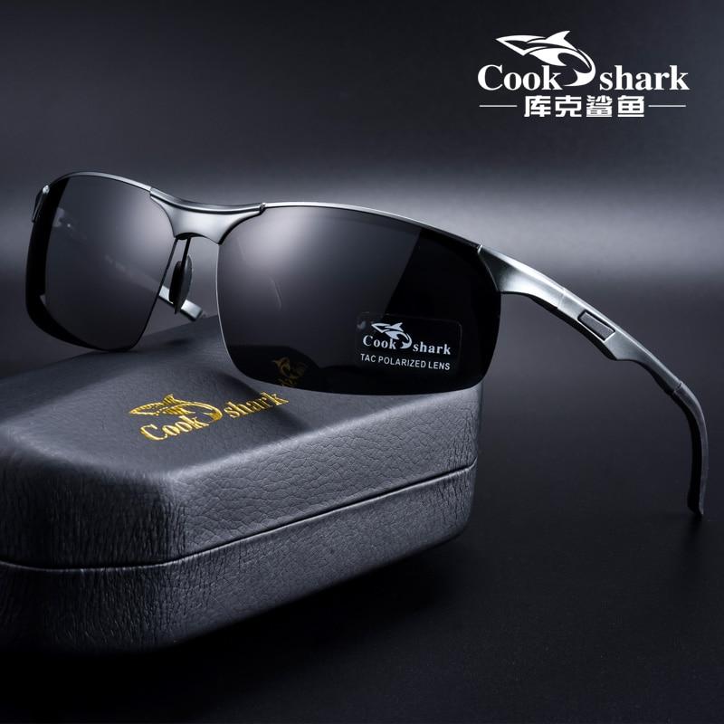 Cook Shark 2020 nuovi occhiali da sole in alluminio e magnesio occhiali da sole da uomo HD polarized driving driver glasses tide 1