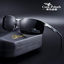 Cook Shark 2020 new aluminum magnesium sunglasses men's