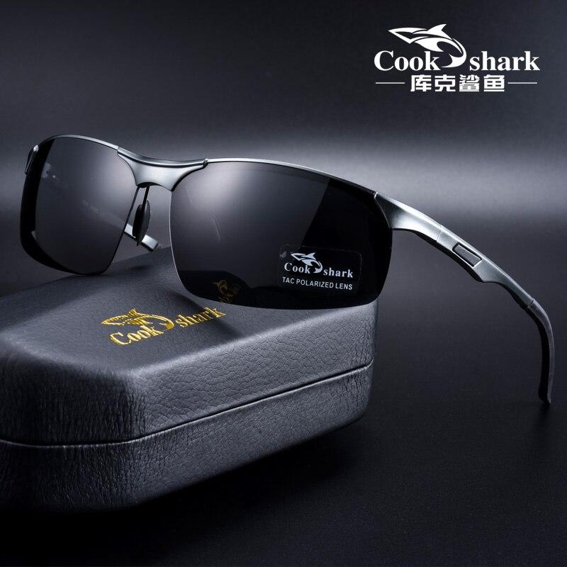 Cook Shark 2020 новые алюминиевые магниевые солнцезащитные очки мужские солнцезащитные очки HD поляризованные очки для вождения|Мужские солнцезащитные очки|   | АлиЭкспресс