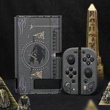 Protetor rachado escudo misterioso egito faraó caso capa dura volta pc girp para nintend switch console & joystick preto titular