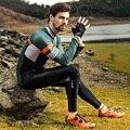 Santic Mannen Lange Mouw Wielershirts Fit Comfortabele Zon-beschermende Racefiets MTB Top Jersey Lente Herfst Jerseys