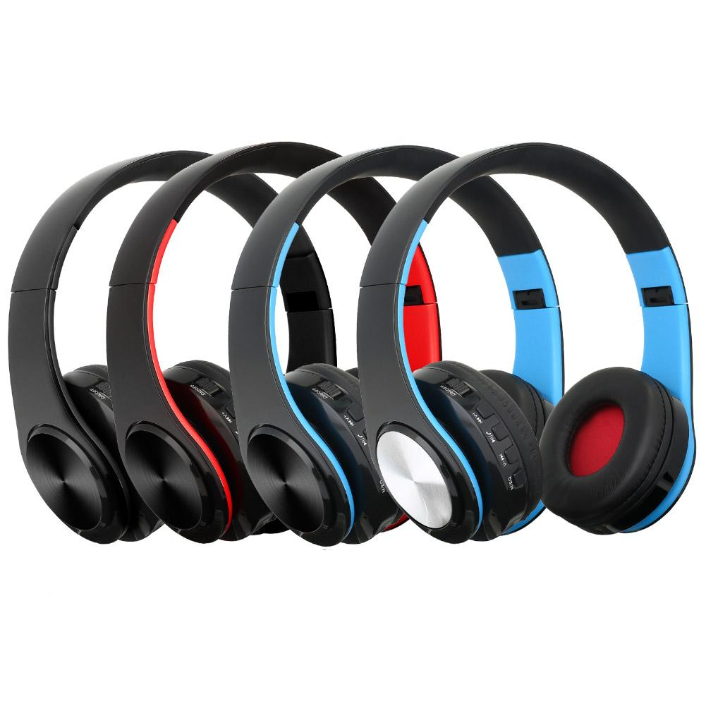 Stylish Wireless Bluetooth Deep Bass Noise Reduction Headphones Foldable Game Music Headphones Can Be Inserted Tf Card