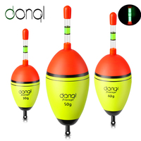 DONQL Angeln Leucht Float EVA Hohe Qualität Angeln Float Bobber Mit 5 Nacht Licht Sticks Für Meer Angeln Zubehör Bekämpfen-in Fischerfloß aus Sport und Unterhaltung bei
