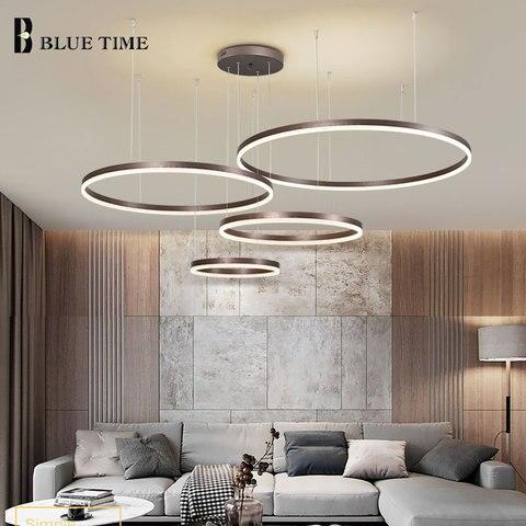 casa moderna led lustre de teto montado luzes acrilico forma redonda iluminacao lustre lamparas deco