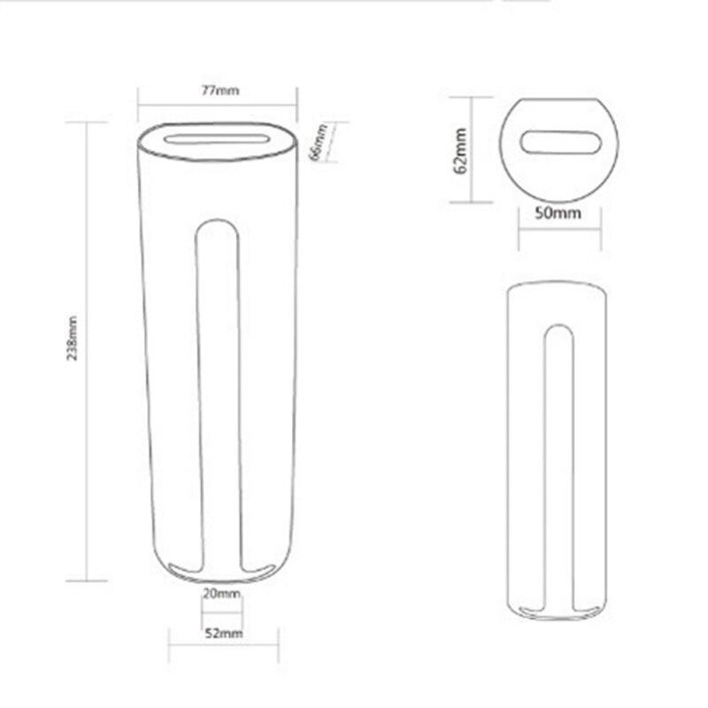 Caixa de armazenamento de algodão cosmético com tampa de madeira wall mount ferramenta de armazenamento de cosméticos domésticos - 2