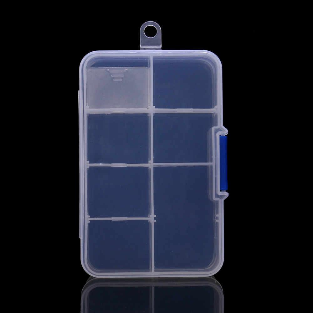 8 Grids Adjustable Kotak Penyimpanan Plastik Transparan Perhiasan Penyimpanan Case Manik-manik Pil Organizer Nail Art Tip Kasus