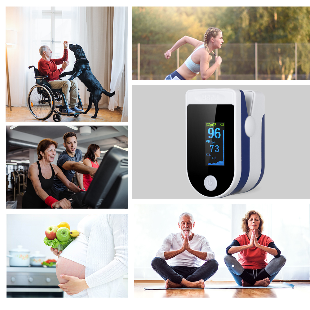 Household Pulse Oximeter Medical Equipment Fingertip LED Pulse Rates Tester Oximeter Blood Oxygen Saturation Monitor Health Care