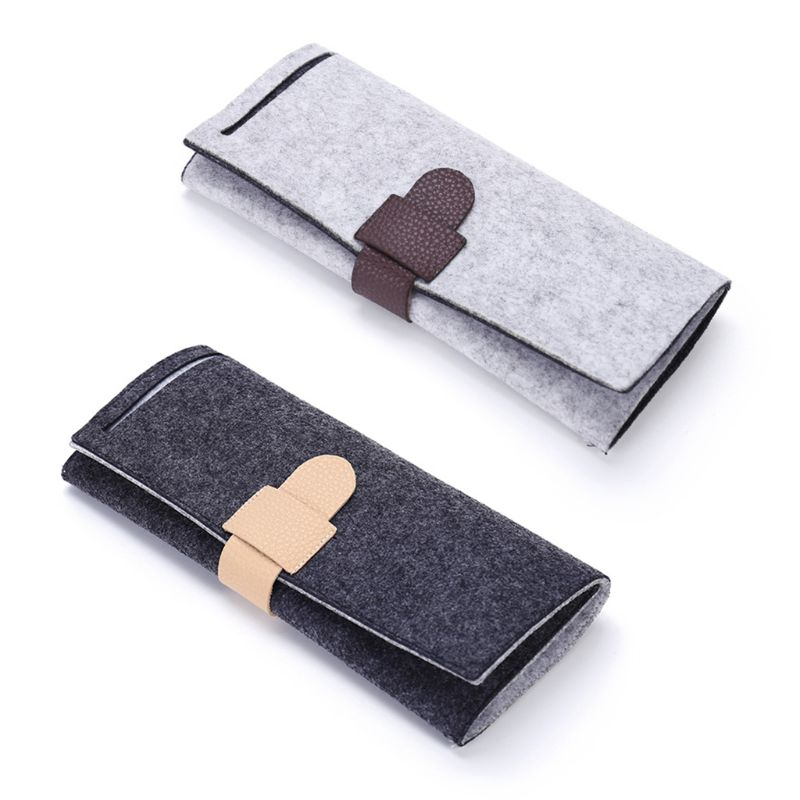 Portable Roll-up Felt Jewelry Roll Storage Bag Folding Travel Earrings Necklaces Bracelets Rings Container Storage