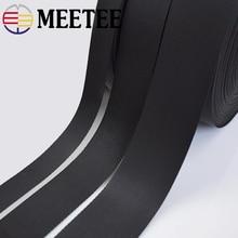 5yards Meetee 2/2.5/3.2/3.8/5cm Black Webbing Ribbon Band Dog Collar Belt DIY Sewing Bags Parts Straps Seat Shoes Clothing