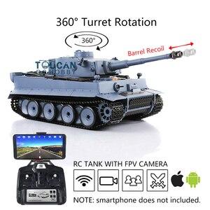 Image 1 - Henglong 1/16 6.0 Plastic Tiger I RC Tank 3818 360 Turret Barrel Recoil FPV TH16095