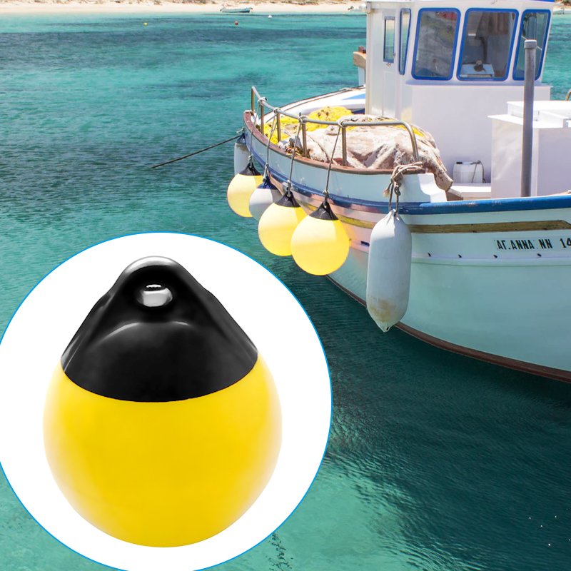 Perfeclan Float Marine Fender Inflatable Buoy Boat Guide Bumper, Marker Buoy