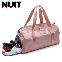 Women And Men Nylon Travel Carry-on Bag Yoga Mat Handbag For Female Shoes Dry Wet Bags Travelling Training Sport