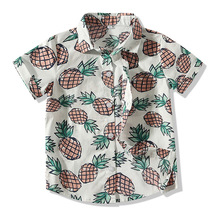 Shirt Baby-Boys Summer New Top-0-3y Pineapple-Pattern Lapel Toddle Toddle