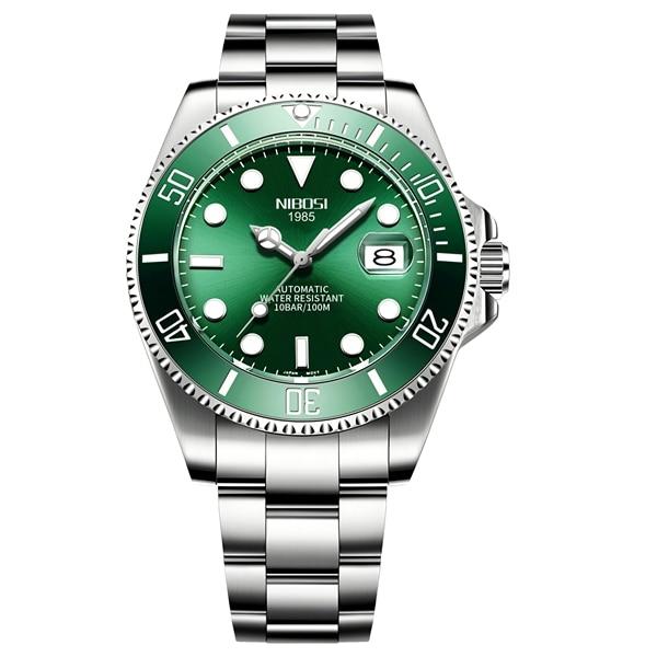 NIBOSI Mechanical Watch Men 10Bar Automatic Luxury Men Watch Sport Wristwatch Two-Tone Reloj Hombre Tourbillon Relogio Masculino 11