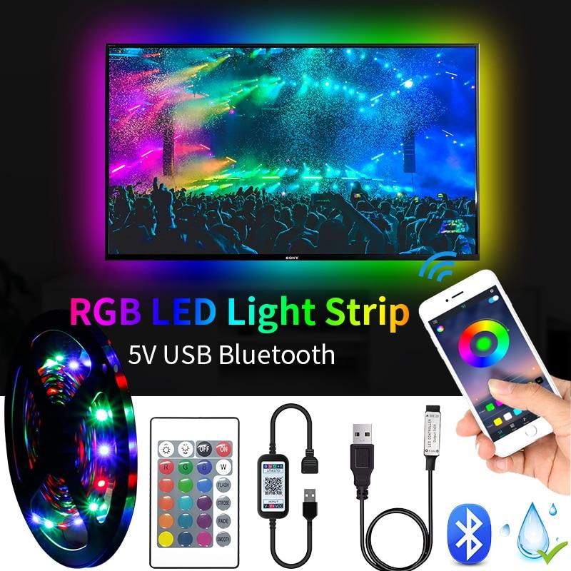 5m led luz de tira tv backlight usb 5050 2835 smd dc5v luces led lâmpada casa cozinha sala estar iluminação decorativa