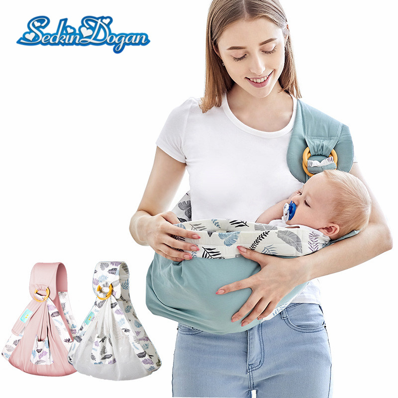 Seckindogan Baby Carriers Kangaroo-Bag Cotton-Wrap Newborn Safety-Ring Comfortable Infant title=
