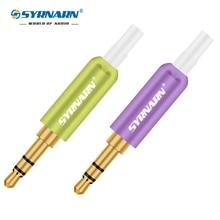 цена на SYRNARN 10pcs Jack 3.5mm 3 Pin Stereo DIY Headphone Jack Male Connector Gold Plated Plug Aluminum Tube 3 Pole 3.5mm Stereo Plug