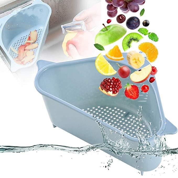Kitchen Triangular Sink Strainer Drain Vegetable Fruit Drainer Basket Suction Cup Sponge Rack Storage ToolSink Filter Shelf|Colanders & Strainers|Home & Garden - AliExpress