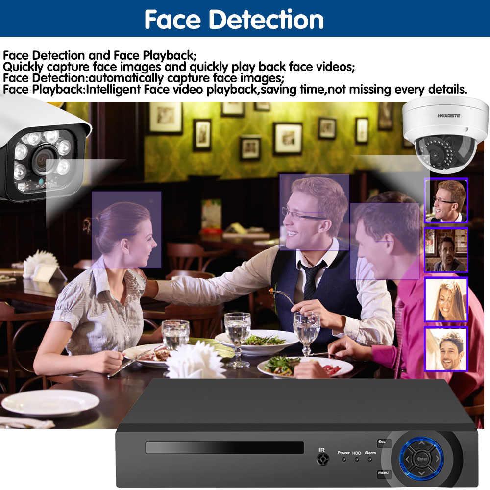 8CH 5MP اللاسلكية NVR POE الأمن 8 قطعة رصاصة وقبة نظام كاميرا شبكية IR-CUT P2P CCTV فيديو مراقبة مسجل عدة سجل الوجه