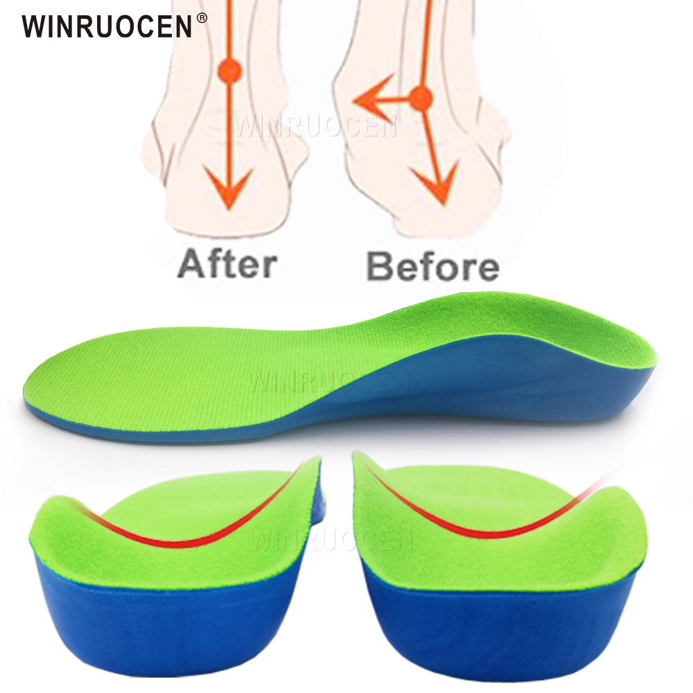 WINRUOCEN Child Professional Arch Support Orthotics Insoles Flat Feet Cubitus Varus XO Leg Plantillas Pad For Shoes Inserts Sole