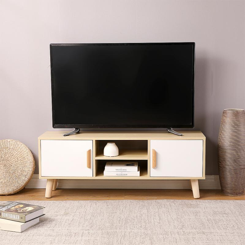 Television Stands Living Room TV Cabinets  With Double Sliding Doors Drawer Storage Organizer TV Cabinet Table HWC