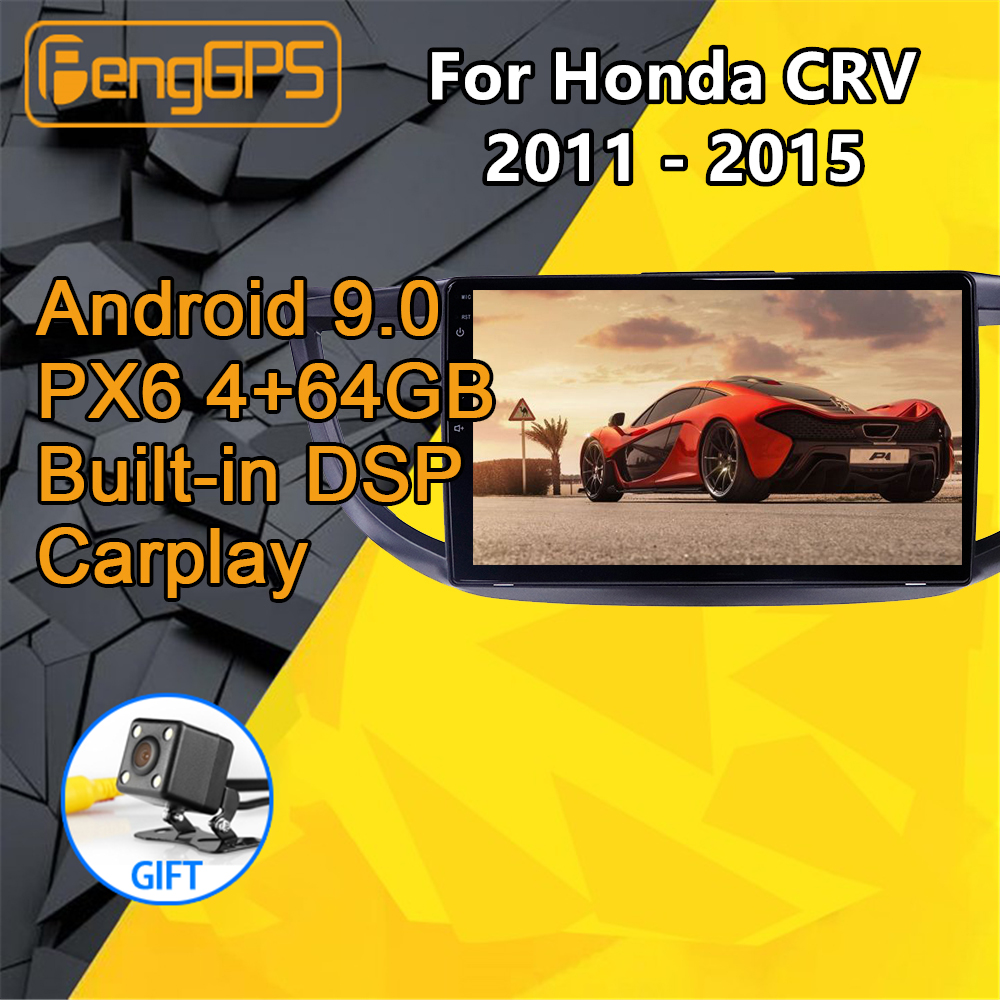 Car <font><b>multimedia</b></font> player For <font><b>Honda</b></font> <font><b>CRV</b></font> 2011 <font><b>2012</b></font> 2013 2014 2015 Stereo Android PX6 Radio Audio GPS Navigation Head unit 360 Camera image