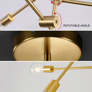 Image 4 - Nordic Modern Pendant Lights Long Pole Designer Pedant Lamp E27 led Light Bulb Hanging Lamp Ceiling Art Decoration Pendant Light