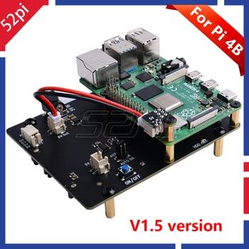 52Pi New Version! Raspberry X825 2.5 Inch SATA HDD/SSD Storage Expansion Board Acrylic Case for Raspberry Pi 4 B ( 4 Model B )