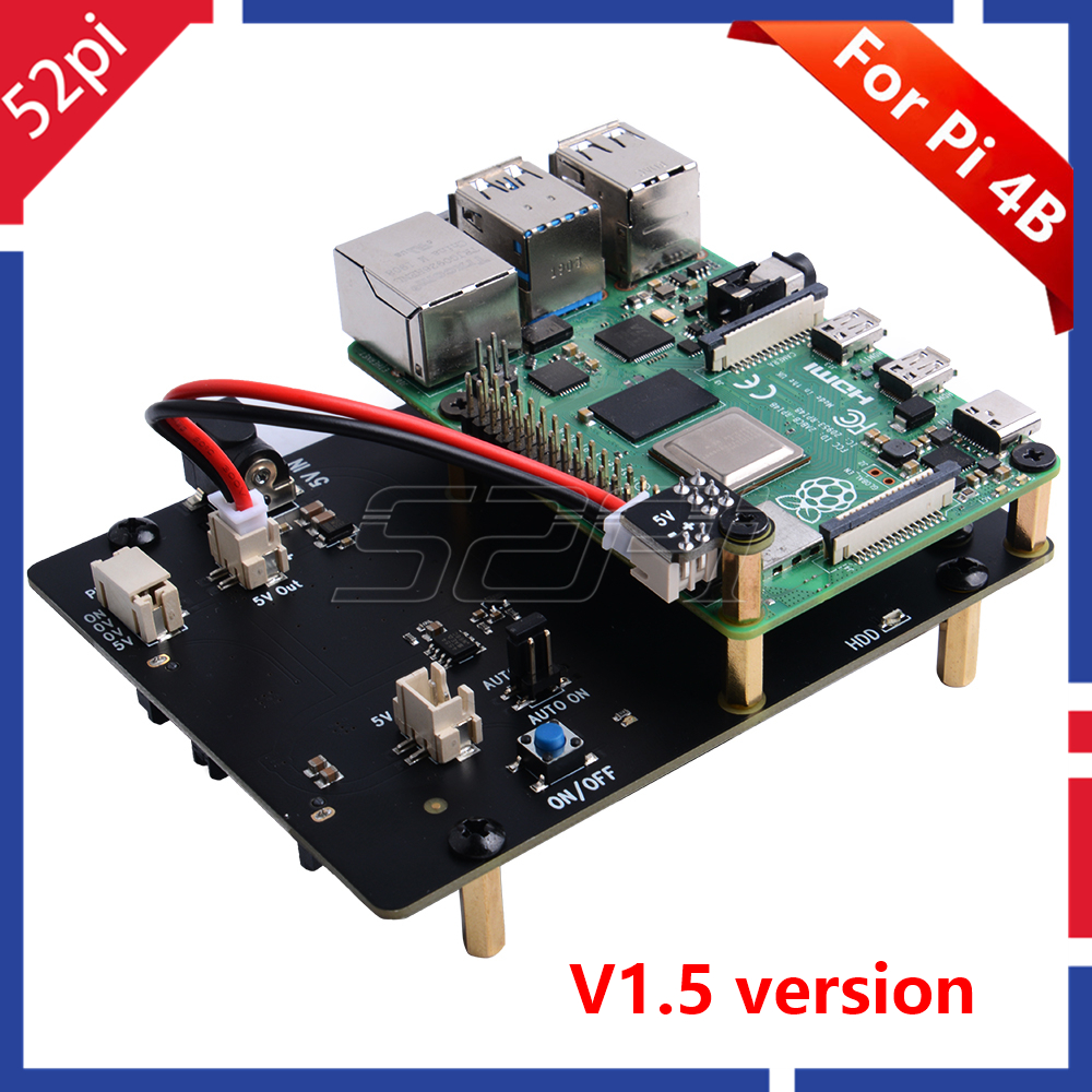 52Pi New Version! Raspberry X825 2.5 Inch SATA HDD/SSD Storage Expansion Board For Raspberry Pi 4 B ( 4 Model B )