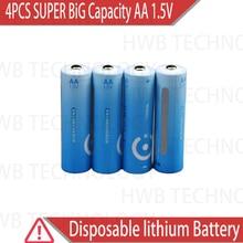 4 упаковки абсолютно новые супер большой емкости AA 1,5 V литиевые железные батареи. Высокая мощность длительный срок годности цифровая камера, радио ba