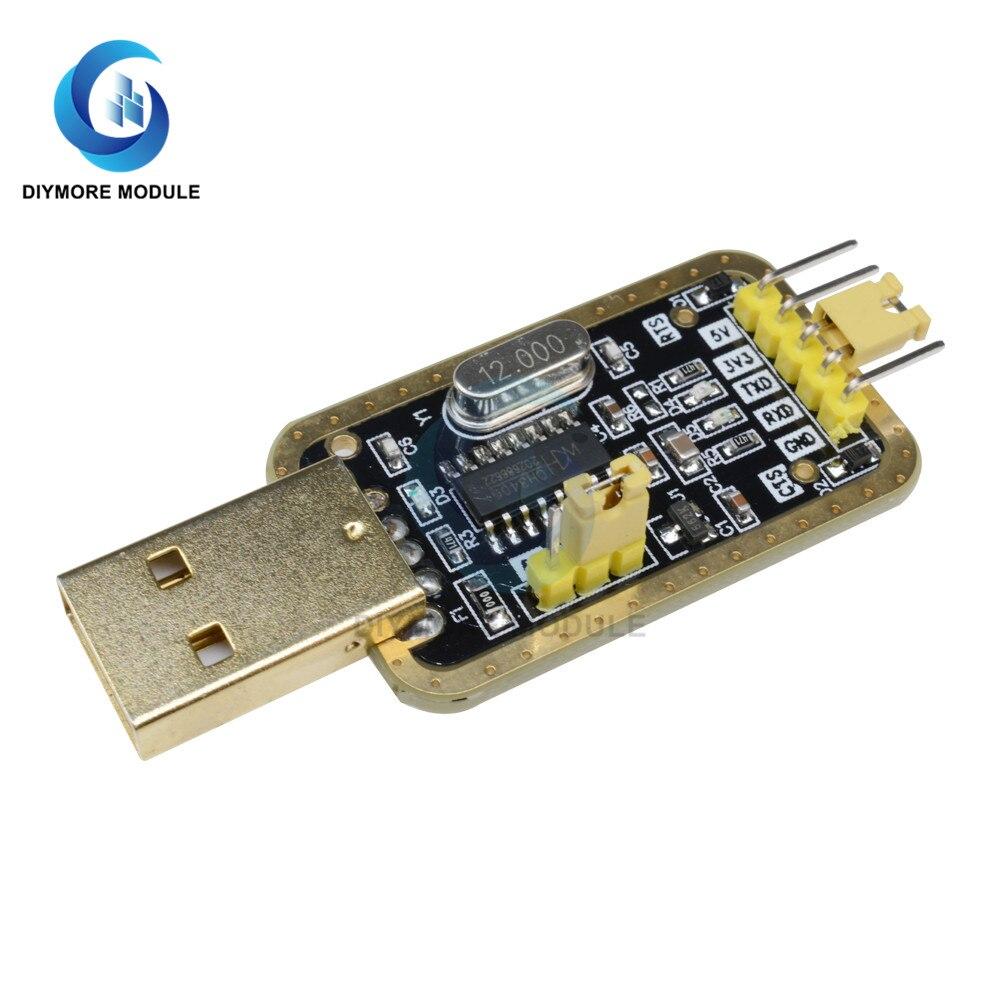 Модуль CH340G преобразователь USB в TTL, адаптер UART, последовательный порт 3,3 В 5 в с подсветкой питания для Arduino