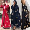 Öffnen Dubai Abaya Kimono Strickjacke Moslemisches Hijab Kleid Kaftan Abayas Islamische Kleidung Für Frauen Kaftan Marocain Katar Robe Musulman