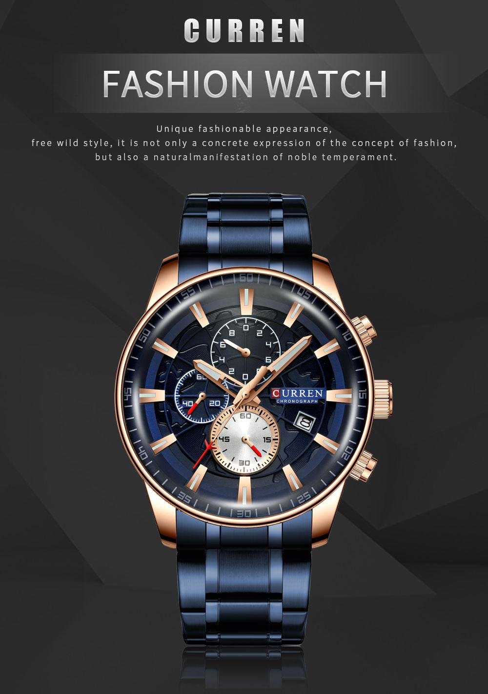 Hf82236ef59044ebe9b4dec168c9c4677n Men's Watches CURREN Top Luxury Brand Fashion Quartz Men Watch Waterproof Chronograph Business Wristwatch Relogio Masculino