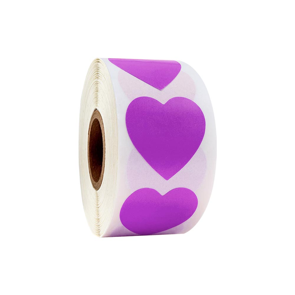 Купить с кэшбэком 500Pcs/Roll Chroma Label Color Label Color Heart-shaped Labels stickers 1 inch color Teacher Office Supplies stationery stickers