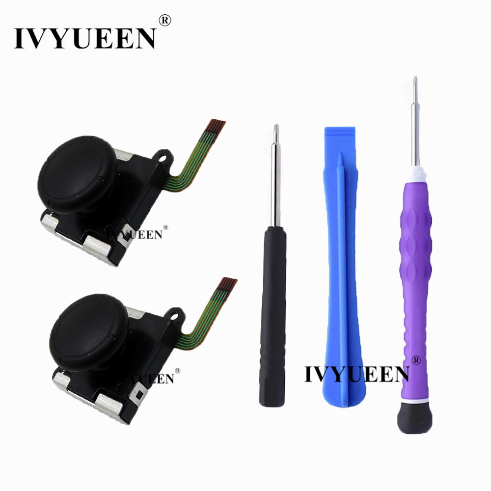 IVYUEEN 3D Analog Thumb Stick For Nintend Switch JoyCon Joystick Sensor Module Potentiometer Repair Parts With Screwdriver
