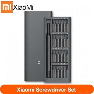 Image 1 - 100% Original Xiaomi Mijia Wiha 매일 사용 스크류 키트 24 정밀 마그네틱 비트 알루미늄 박스 스크류 드라이버 xiaomi smart home Kit