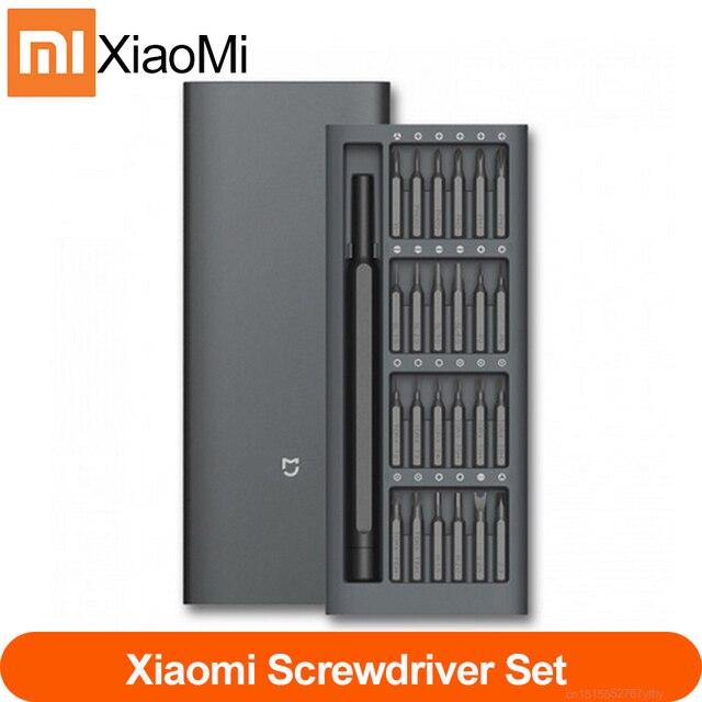100% Original Xiaomi Mijia Wiha 매일 사용 스크류 키트 24 정밀 마그네틱 비트 알루미늄 박스 스크류 드라이버 xiaomi smart home Kit