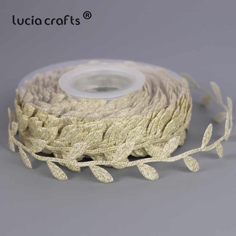 Lucia ofícios 1 rolo/lote (10 metros/rolo) 30mm folhas guarnição enfeite fitas de folha diy tecido apliques vestuário costura q0708