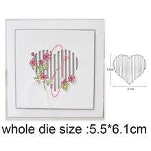 Штампы для рукоделия с полым сердечком металлические режущие