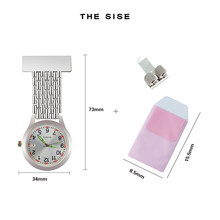 Nurse watch quartz Fob Pocket doctor-who gift for medical student Lapel nursing Clock Stainless Pen Clips Pocket protector