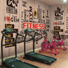 Milofi custom 3D personality wallpaper wall cloth sports gym large mural