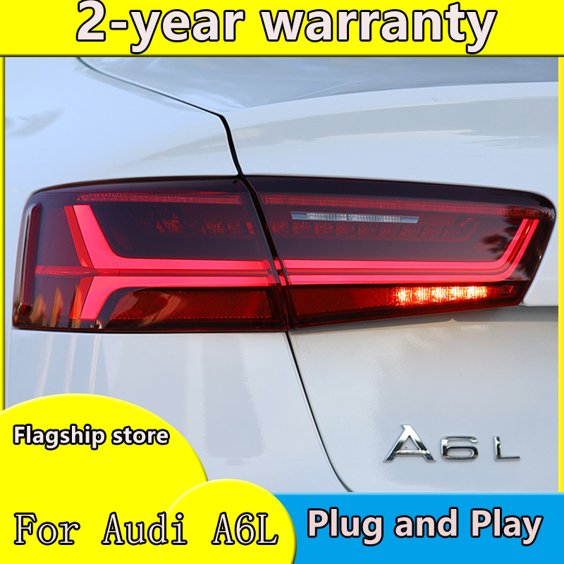 Car Styling case for <font><b>Audi</b></font> A6L <font><b>A6</b></font> 2012-2016 taillights <font><b>Audi</b></font> <font><b>A6</b></font> Tatilights <font><b>LED</b></font> <font><b>Tail</b></font> <font><b>Light</b></font> <font><b>LED</b></font> Rear Lamp Certa taillight Automobile image