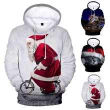 2020 Winter Funny Santa Claus Printed Men's Autumn 3D printing Christmas Long Sleeve Hoodies Tops Sweatshirts santa claus 3d printed christmas sweatshirt