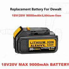 С Зарядное устройство 18V 9.0Ah DCB200 литийионный Аккумулятор для Батарея для DeWalt Макс XR 18V 20V електричюеского инструмента 9000 мАч литиевые батареи...