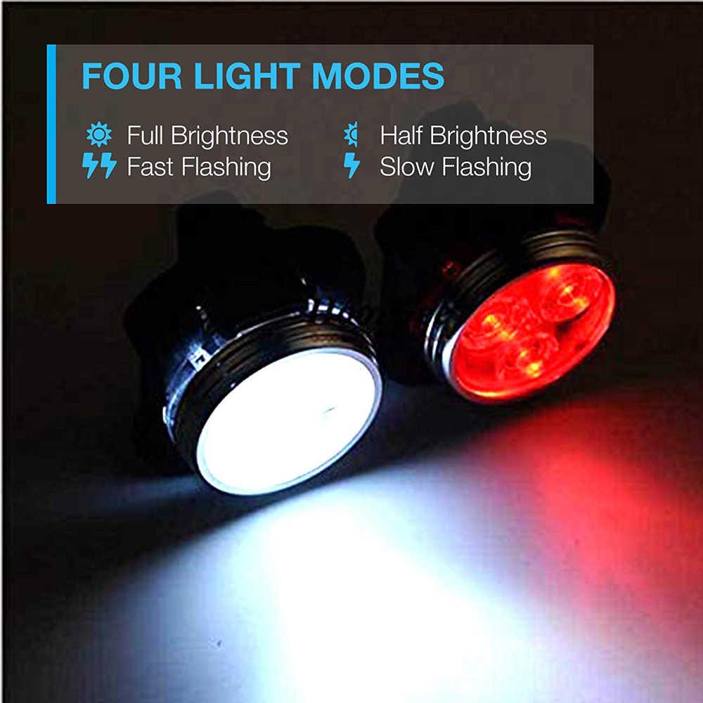 LED USB Rechargeable vélo lumière ensemble étanche vélo avant lumière vélo feu arrière phare vélo arrière lanterne lampe de poche