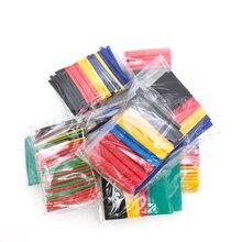 Unids/set de tubo de envoltura de alambre, Cable eléctrico del coche, kits de tubos termorretráctiles, poliolefina, 8 tamaños, colores mezclados, 328