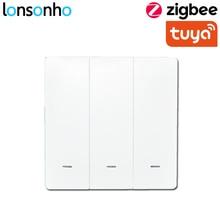 Lonsonho Zigbee Smart Wifi Switch 1 2 3 Gang EU Button Switches Works With Tuya HUB Wireless Remote Control Google Home